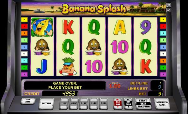 Игровой автомат Banana Splash - золотые фрукты для игроков Казино Корона