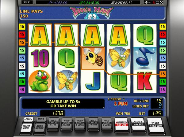 Игровой автомат Beetle Mania - сумасшедшие выигрыши для игроков казино Азино777