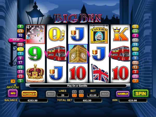 Игровой автомат Big Ben - путешествие в Лондон в казино Вулкан