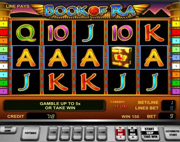 Игровой автомат Book of Ra - сокровища Древнего Египта для удачных игроков