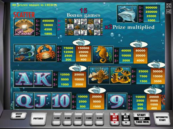 Игровой автомат Dolphins Pearl - морские приключения в казино Вулкан Престиж