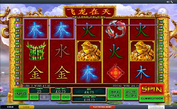 Игровой автомат Fei Long Zai Tian - узнай у Слотермена какие шансы на большие выигрыши