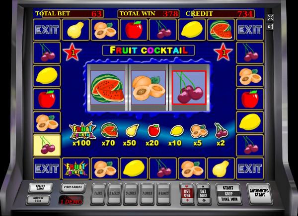Игровой автомат Fruit Cocktail - в казино Франк играть в лучшие слоты