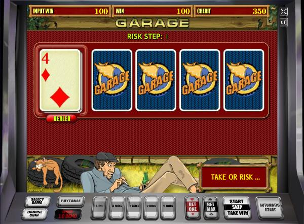 Игровой автомат Garage - супер выигрыши для настоящих мужиков в казино Вулкан