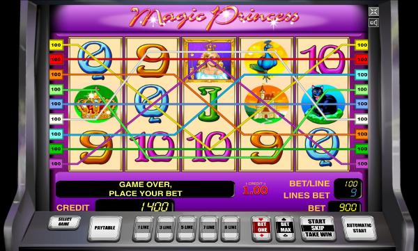 Игровой автомат Magic Princess - сокровища юной королевы для рискованных игроков