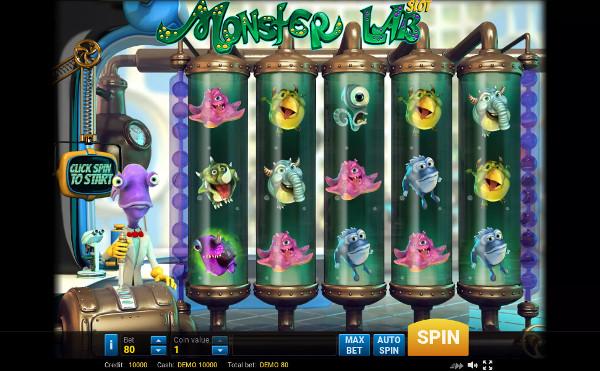 Игровой автомат Monster Lab - в казино Чемпион играй и выигрывай по крупному