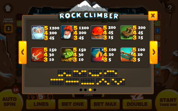 Игровой автомат Rock Climber - экстремальные заработки для игроков клуб Вулкан