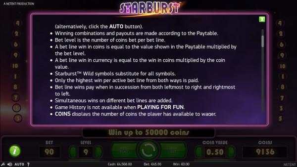 Игровой автомат Starburst - сорви куш в казино GMS Deluxe