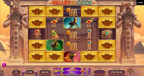 Игровой автомат Valley of The Gods - щедрые слоты от Yggdrasil в казино Вулкан