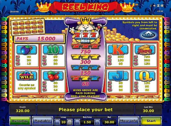 Незабываемые выигрыши дарит казино Вулкан Платинум в игровой слот Reel King