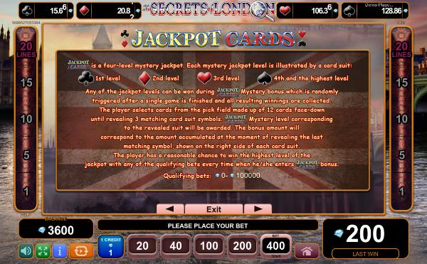 Выигрывай по крупному в игровые аппараты Вулкан с помощью слота The Secrets of London